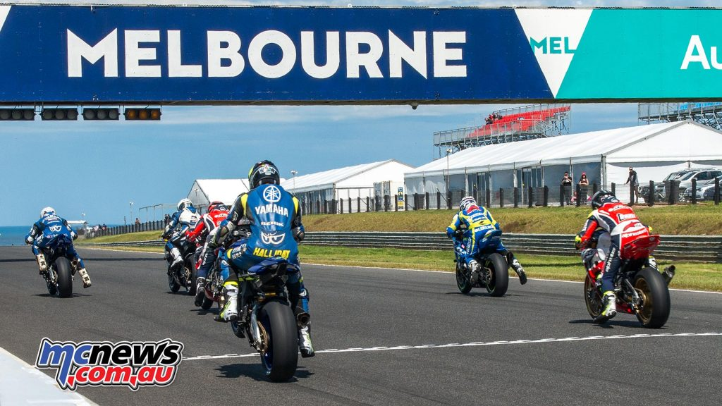 ASBK Race One underway at Phillip Island - Image by Half Light