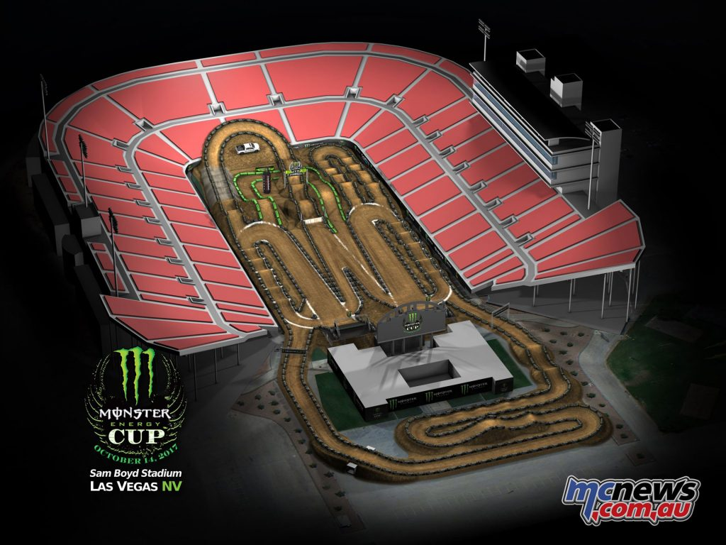 2017 Monster Energy Cup Track