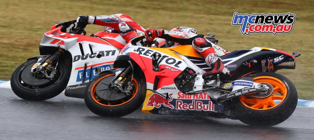 Andrea Dovizioso and Marc Marquez - Image by AJRN