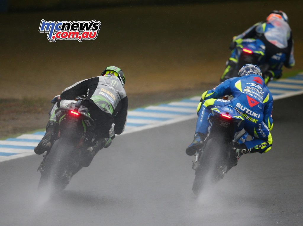Alex Rins leads Andrea Iannone and Johnn Zarco - Image by AJRN