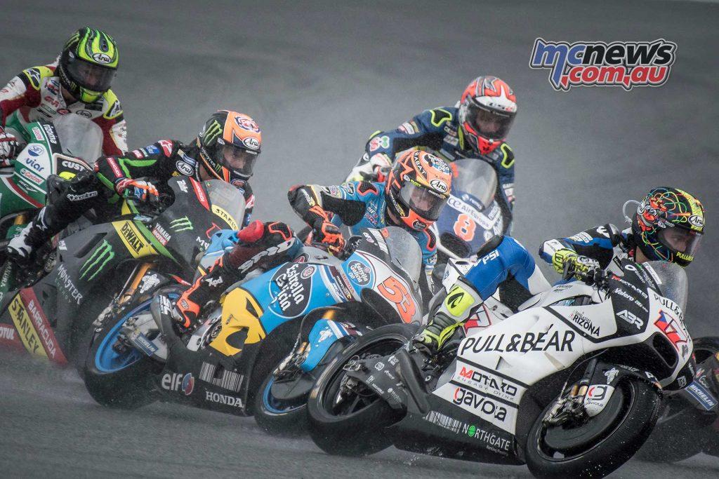 Karel Abraham leads Tito Rabat - Sepang MotoGP 2017