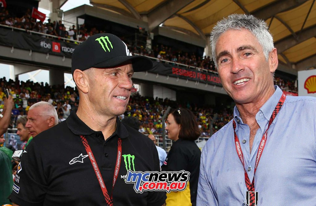 Randy Mamola at Sepang with Mick Doohan in 2017 - Image by AJRN