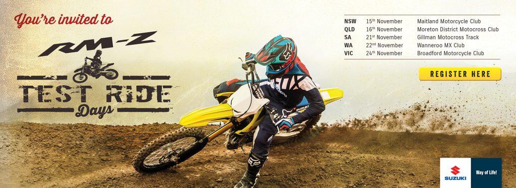November MY18 RM-Z Ride Days announced
