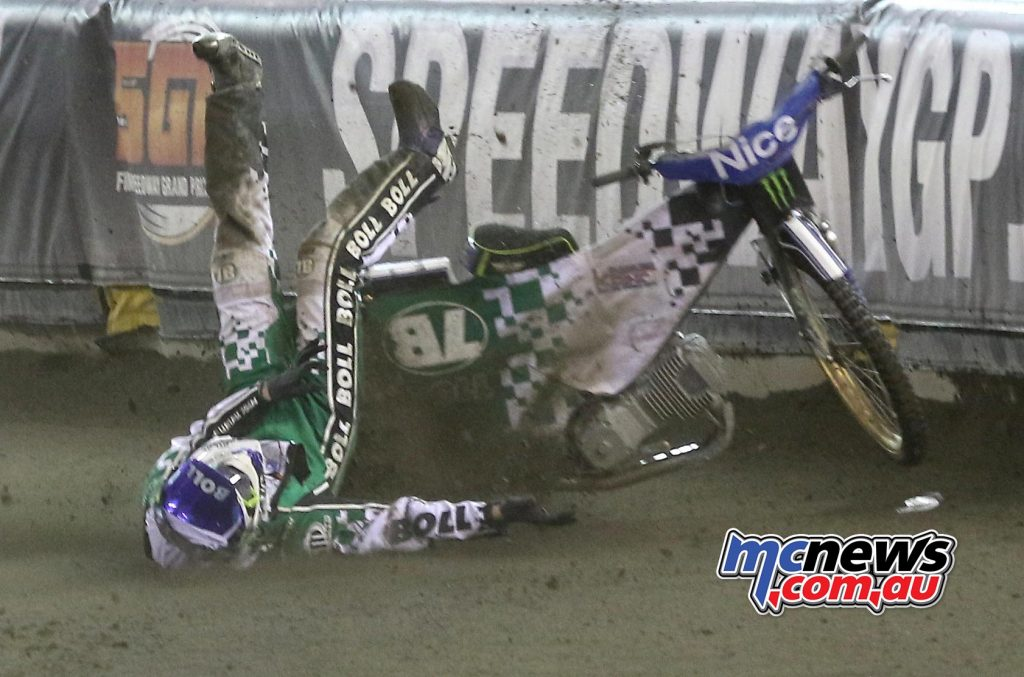 Max Fricke crash in Poland - Image by Chris Horne