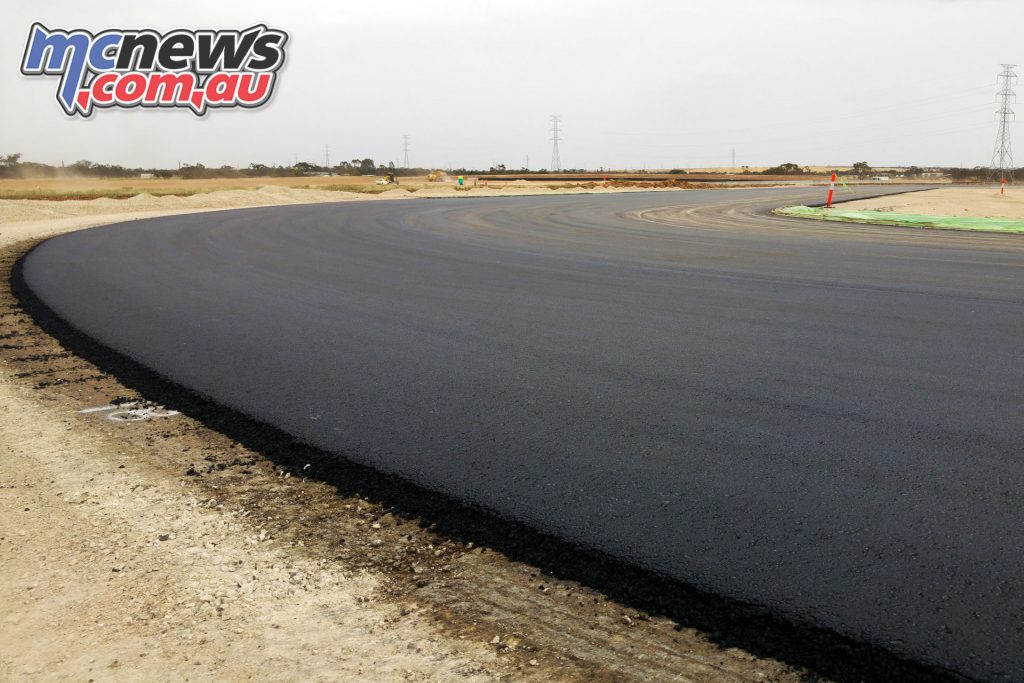 The asphalt is produced on site specifically for the circuit