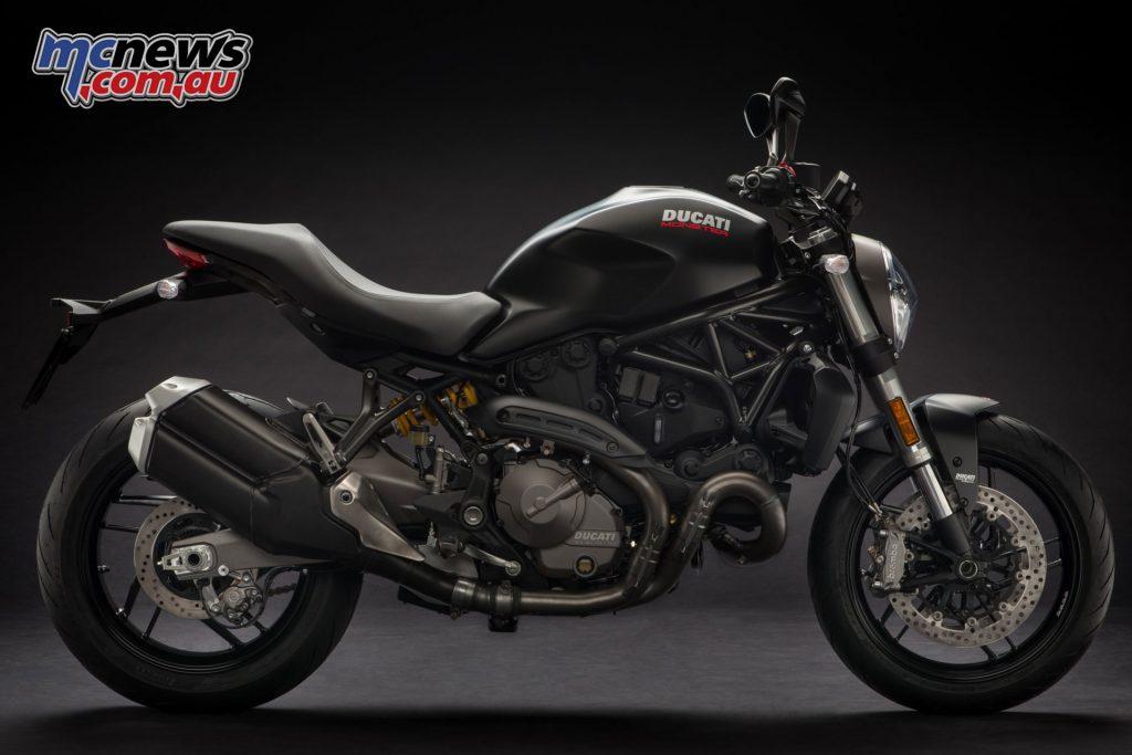 The 2018 Ducati Monster 821 in Matte Black