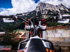 Jumping on a KTM these days you feel right at home when it comes to ergonomics