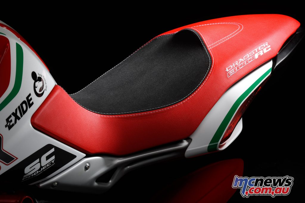 Specially colour matched Dragster 800 RC seat