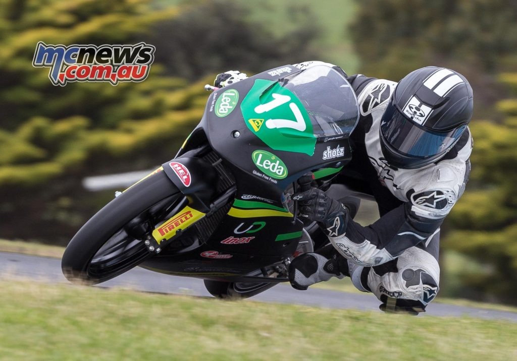 Tom Toparis put in four laps on a Moto3 bike ahead of his upcoming Motegi Moto3 wildcard later this month - Image by TBG