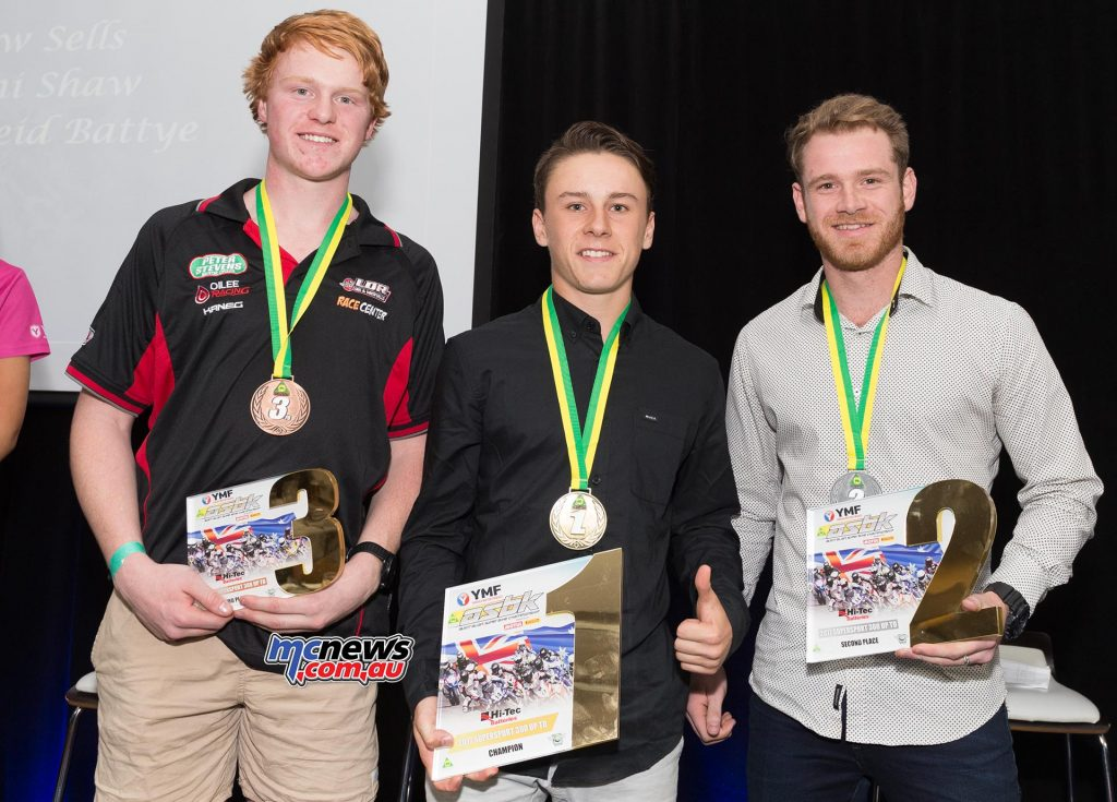 2017 Hi- Tec Batteries Austraian Supersport 300 Championship - Up To Reid BATTYE (NSW) Kawasaki 409 Yanni SHAW (NSW) Kawasaki 341 Drew SELLS (VIC) Kawasaki 330