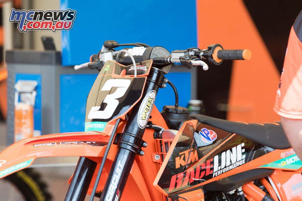 Rykers is racing with Raceline Pirelli KTM