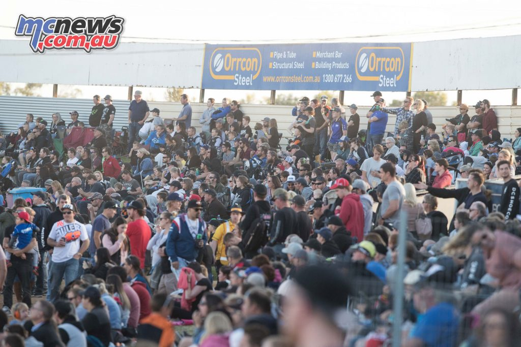 There was a strong crowd turnout for Round 3 of the Australian Supercross Championship at Virginia