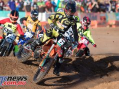 The SX2 class offered exciting racing with previous leader Faith still recovering from injury