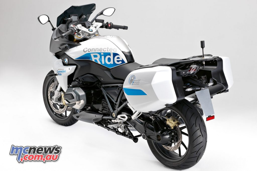 BMW's R 1200 RS with ConnectedRide was showcased at this years CMC Conference