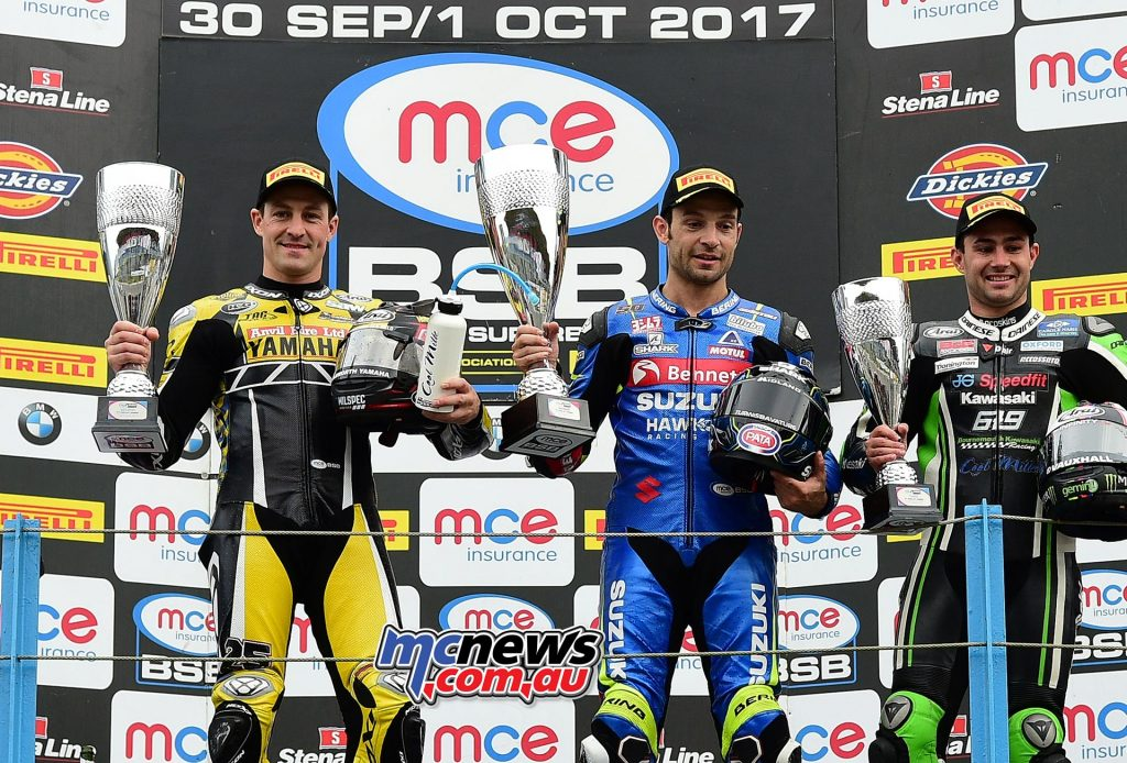Sylvain Guintoli celebrated his first victory of the season in the MCE Insurance British Superbike Championship in a race two thriller at Assen - Image by Jon Jessop