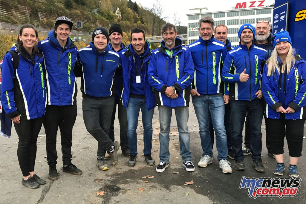 Andy Wilksch with the Motul Pirelli Sherco and CH Racing Teams