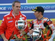 Ernesto Marinelli with Troy Bayliss in 2008