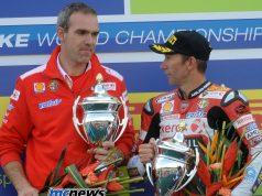 Ernesto Marinelli with Troy Bayliss in 2008