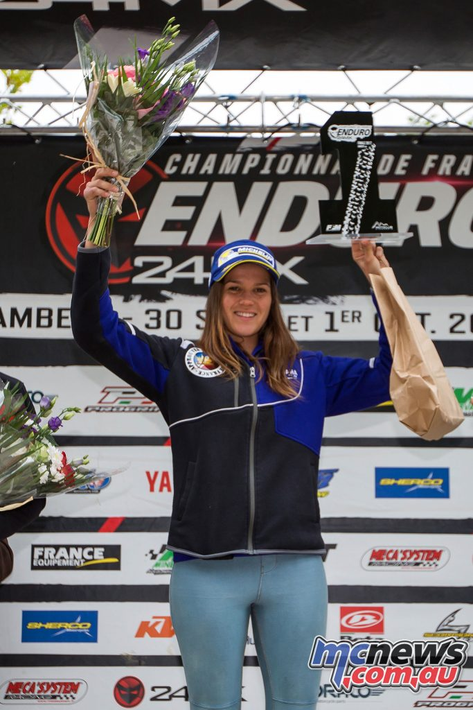 Jess Gardiner took the 2017 Women's French Enduro Championship title - Image by Mastorgne Photography