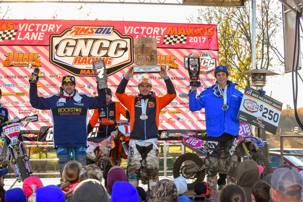 GNCC Overall Podium - Image by Ken Hill