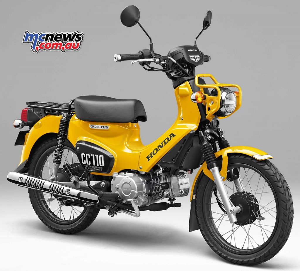 The Cross Cub 110 further expands the Honda line and is reminiscent of the new Monkey 125