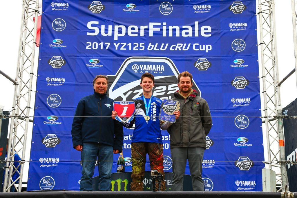 Arvid Lüning won the 2017 YZ125 bLu cRU Cup SuperFinale