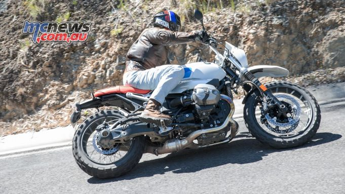 Marty enjoying the BMW R nineT Urban G/S
