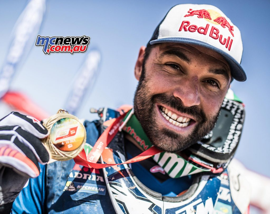 Antoine Meo took fourth in the Morocco Rally