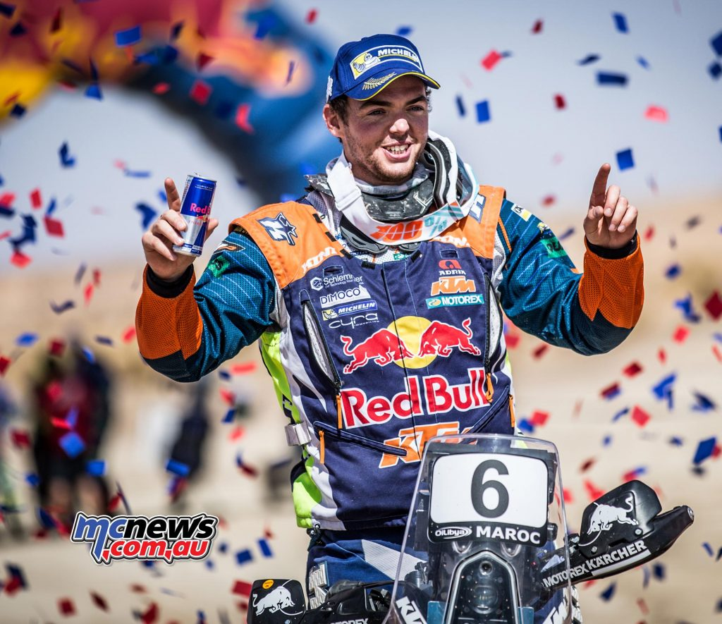 Matthias Walkner topped the Morocco Rally standings in dominant form
