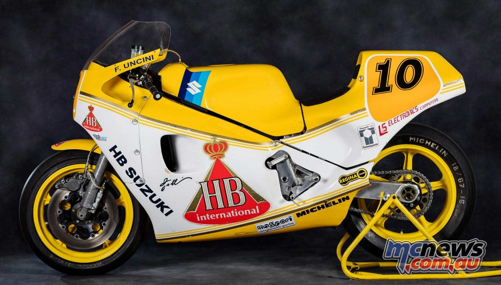 The Massimo Tamburini designed and Suzuki engined 500GP race with power steering!
