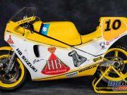 The Massimo Tamburini designed and Suzuki engined 500GP race with power steering!