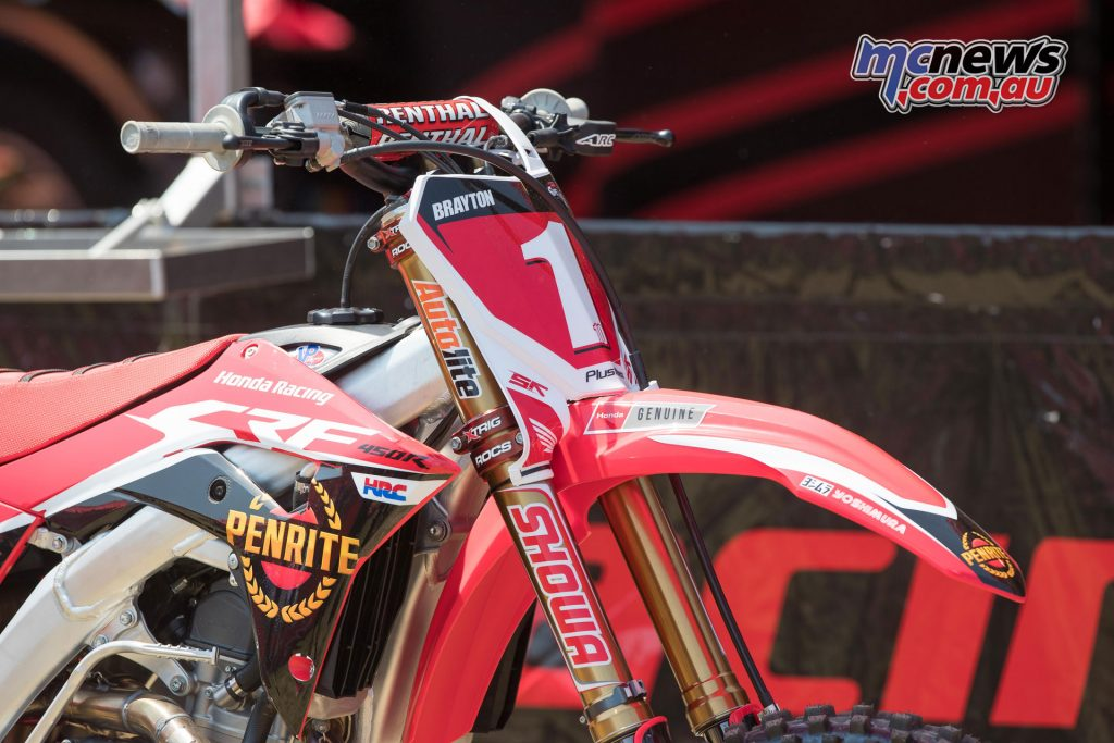 Justin Brayton's #1 Penrite Honda
