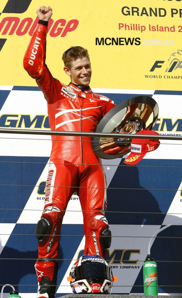 Casey Stoner at Phillip Island 2007 - Image by AJRN