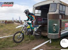 The famous section through a bus of the Wildwood Rock Extreme Enduro