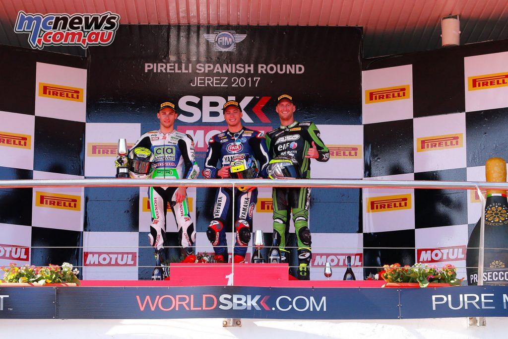 Jerez WorldSBK - WorldSSP Podium