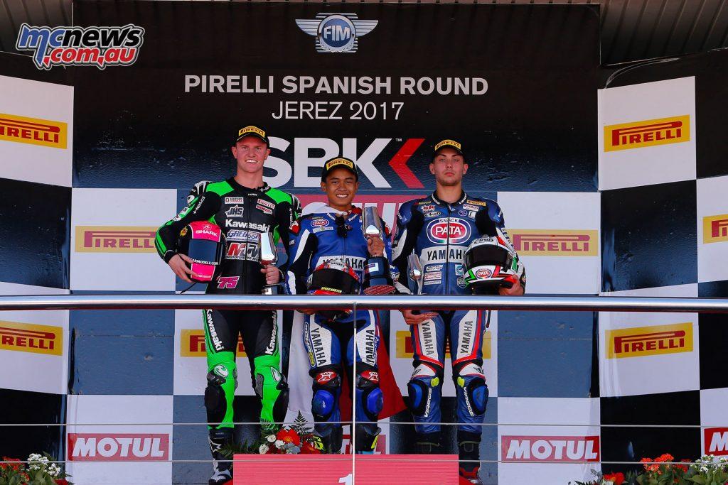 Jerez WorldSBK - WorldSSP300 Podium