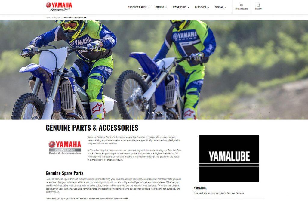 It's the same website - www.yamaha-motor.com.au