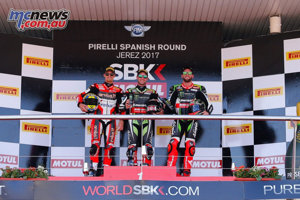 WorldSBK 2017 Jerez, Race 1 Podium