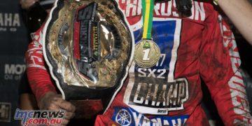 Serco Yamaha's Jackson Richardson has made it back to back Australian Supercross Championship victories