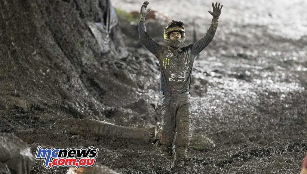 Nathan Crawford covered in mud - Image by Marc Jones