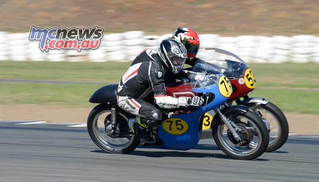 Darren Trotter and David Hagney both on G50 Matchless in Period 3