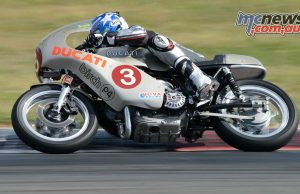 South Australian IOM racer Davo Johnson on the stunning Birch Imola Ducati.