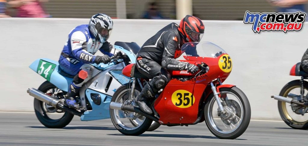 Former classic motocross racer Eric Salmon on his immaculate Honda