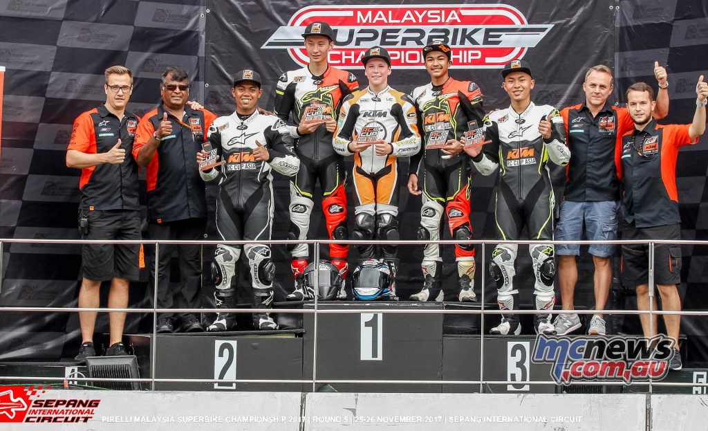 Billy Van Eerde was victorious at Sepang with two victories and pole position in the final round of the Malaysian KTM RC Cup