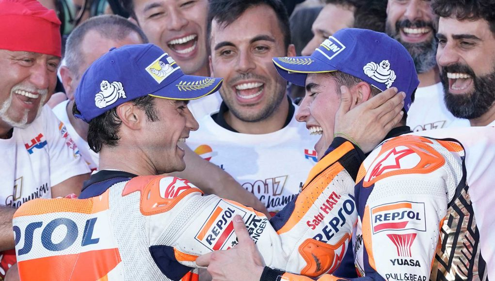 Dani Pedrosa wins the Valencia MotoGP Finale while teammate Marc Marquez is crowned 2017 MotoGP World Champion