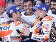 Dani Pedrosa wins the Valencia MotoGP Finale while teammate Marc Marquez is crowned 2017 MotoGP World Champion