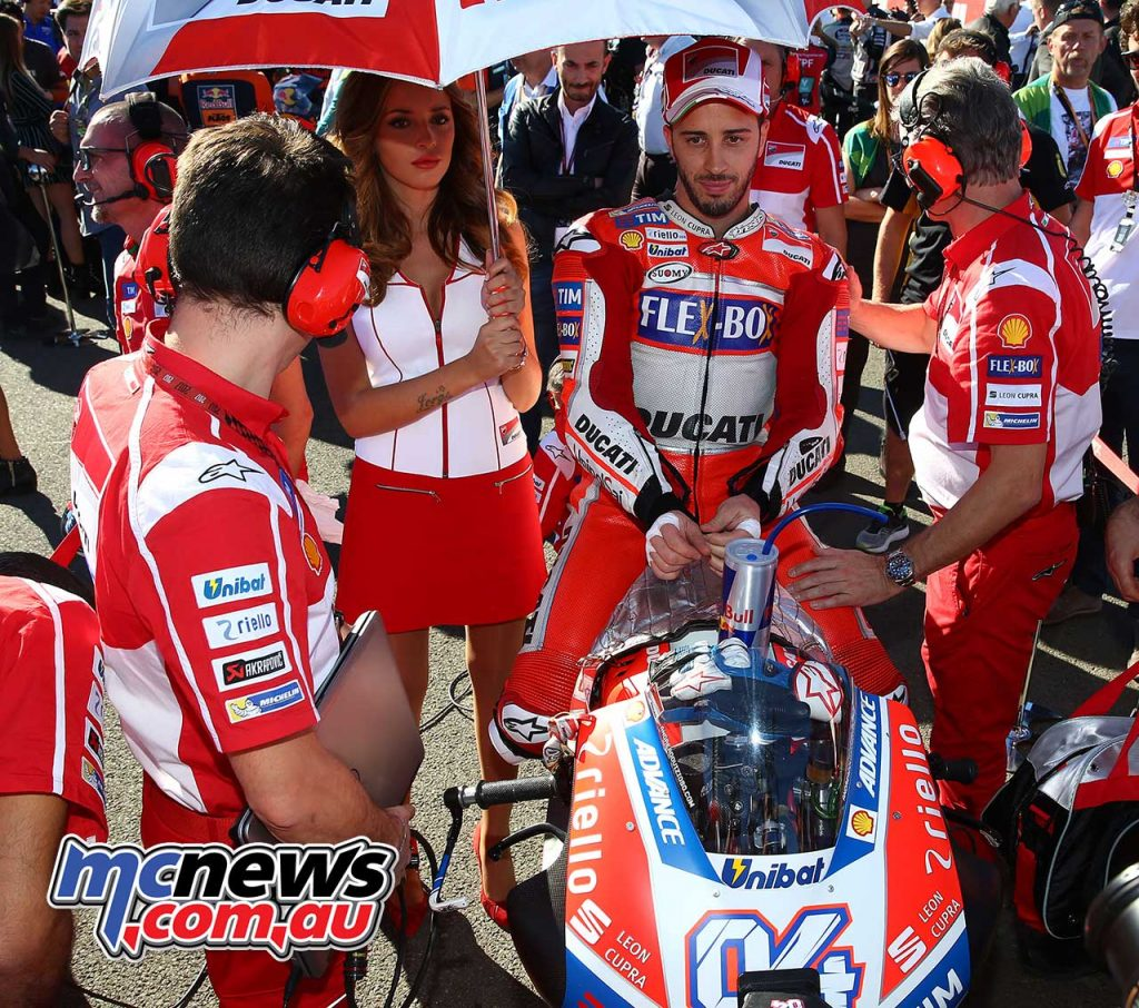 Andrea Dovizioso on the grid at Valencia - Image by AJRN