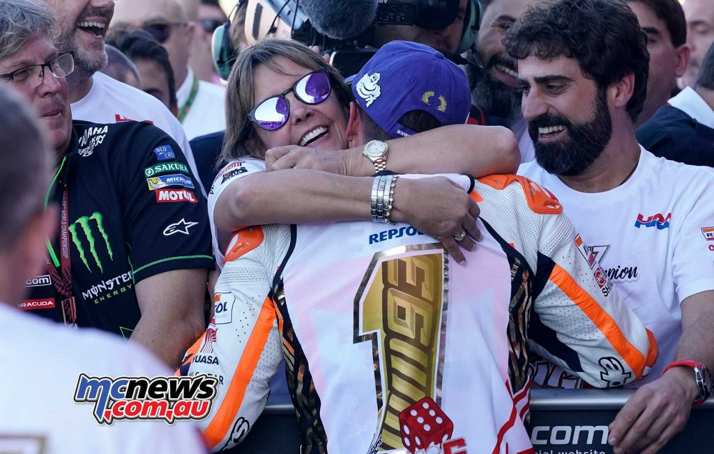 Marc Marquez and his mother - 2017 MotoGP World Champion - Celebrations