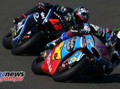 Francesco Bagnaia chased down and passed Alex Marquez - Image by AJRN