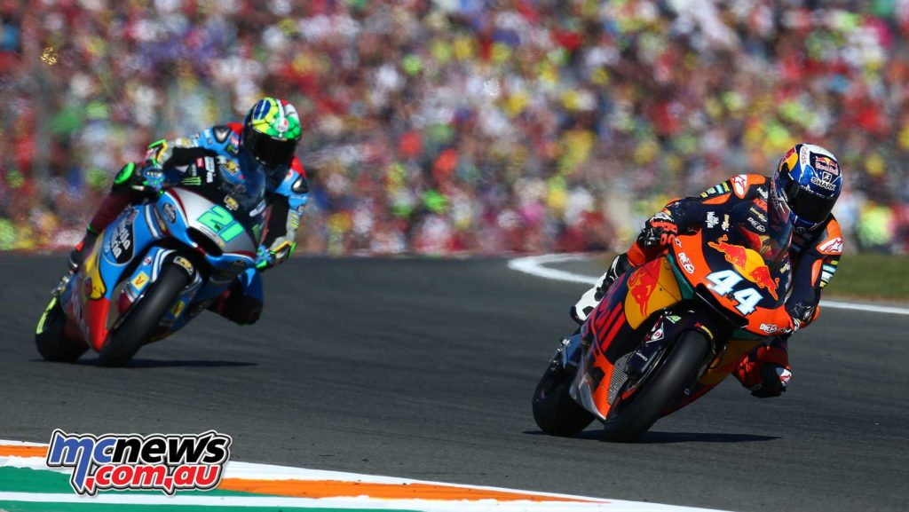 Miguel Oliveira leads Franco Morbidelli - Image by AJRN